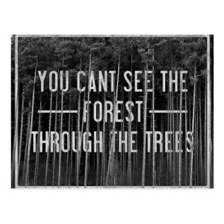 The forest postcard