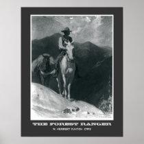 The Forest Ranger Vintage Cowboy Poster