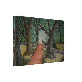 The Forest Road Gallery Wrap Canvas