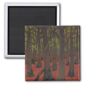 The Forest with Red Earth, c.1891 2 Inch Square Magnet