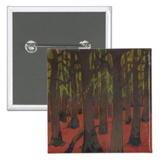 The Forest with Red Earth, c.1891 2 Inch Square Button