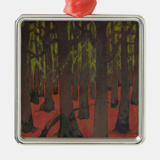 The Forest with Red Earth, c.1891 Metal Ornament