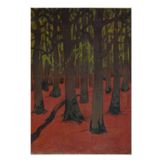 The Forest with Red Earth, c.1891 Poster