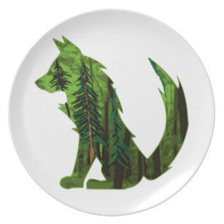 THE FOREST WITHIN MELAMINE PLATE