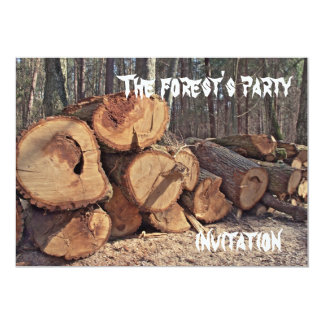 The forest's party, invitation