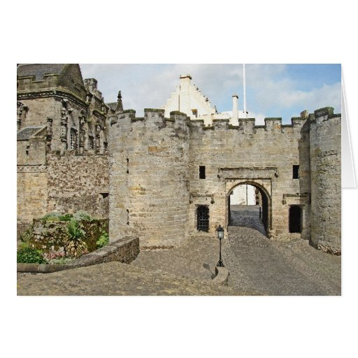 The Forework at Stirling Castle, Scotland Card