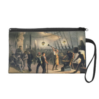 The Forge on Deck of the Great Eastern, night of A Wristlet Purse