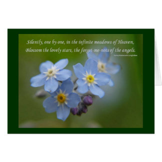 The Forget-Me-Nots of the Angels Greeting Card