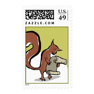 The forgetful squirrel postage stamps