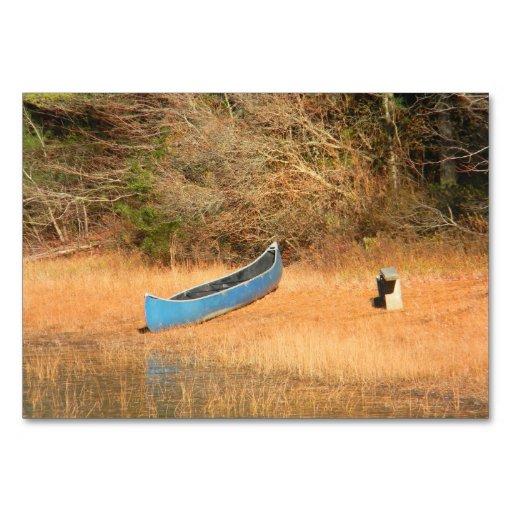 The Forgotten Canoe Tablecard Table Card