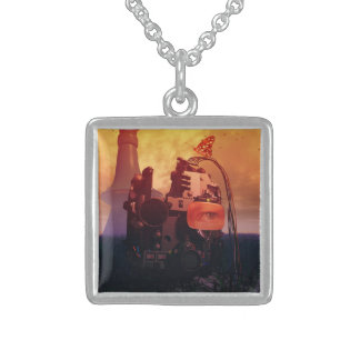 The Forgotten Technology Square Pendant Necklace