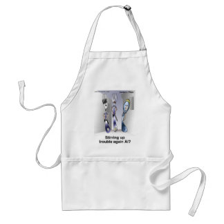 The Fork Police Funny Cartoon Gifts & Collectibles Adult Apron