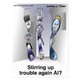 The Fork Police Funny Cartoon Gifts & Collectibles Postcard