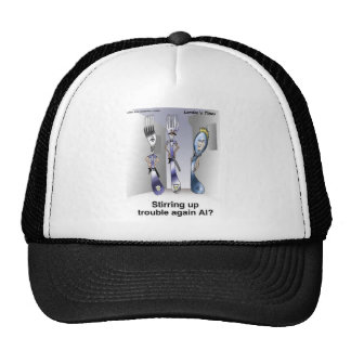 The Fork Police Funny Cartoon Gifts & Collectibles Trucker Hat