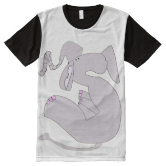 The Forlorn Elephant All-Over Print T-shirt