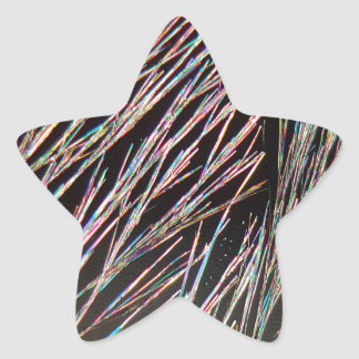The form of fragrance: Coumarin crystals Star Sticker