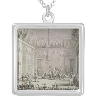 The Formal Audience of the Directory Silver Plated Necklace