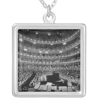 The Former Metropolitan Opera House 39th St 1937 Silver Plated Necklace