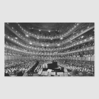 The Former Metropolitan Opera House 39th St 1937 Rectangular Sticker
