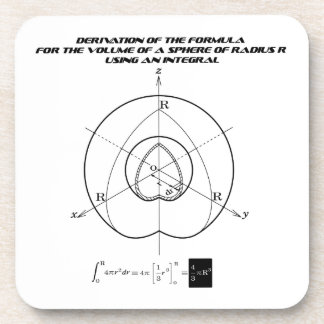 the formula for the volume of a sphere beverage coaster