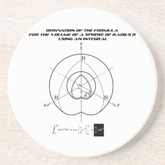 the formula for the volume of a sphere coaster