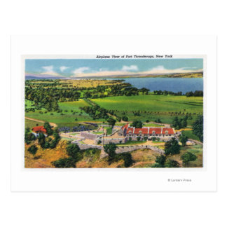The Fort, Lake Champlain in Distance Postcard