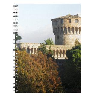 The Fortezza Medicea of Volterra, Tuscany, Italy Notebook