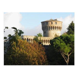 The Fortezza Medicea of Volterra, Tuscany, Italy Postcard