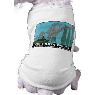 The Forth Bridge - North Eastern Railway Dog T-shirt