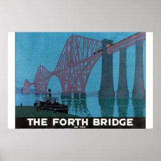 The Forth Bridge_Vintage Travel Poster