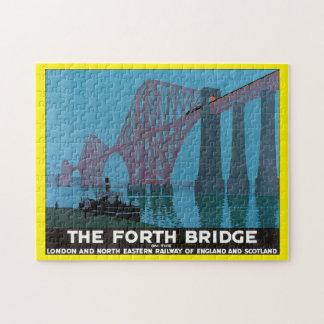 The Forth Bridge_Vintage Travel Poster Artwork Jigsaw Puzzle