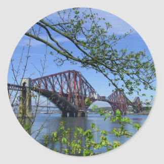 The Forth Rail Bridge Classic Round Sticker