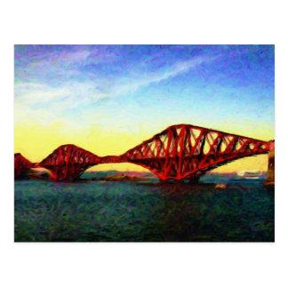 The Forth Railway Bridge, Scotland. Postcard