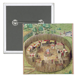 The Fortified Town of Pomeiooc Pinback Button