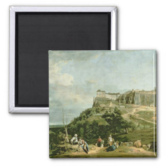 The Fortress of Konigstein, 18th century 2 Inch Square Magnet