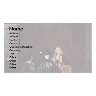 The Fortune Teller By Longhi Pietro (Best Quality) Business Card