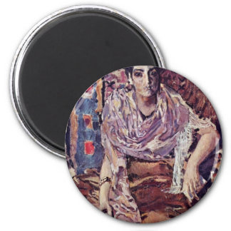 The Fortune-Teller By Wrubel Michail Alexandrowits 2 Inch Round Magnet