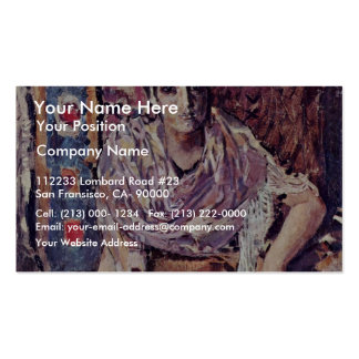 The Fortune-Teller By Wrubel Michail Alexandrowits Double-Sided Standard Business Cards (Pack Of 100)