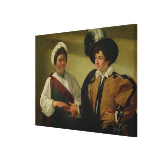The Fortune Teller, c.1596-97 Canvas Print