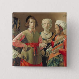 The Fortune Teller, c.1630 (oil on canvas) (see 19 Pinback Button
