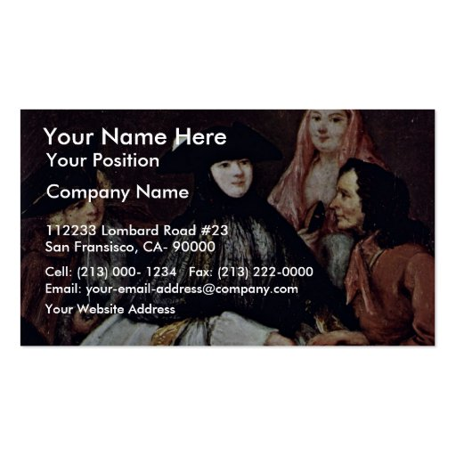The Fortune Teller Detail By Longhi Pietro Business Card Templates