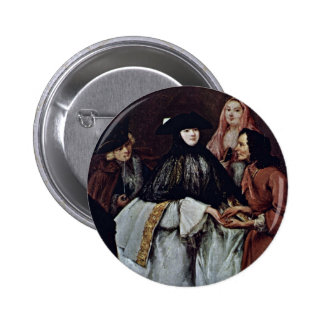 The Fortune Teller Detail By Longhi Pietro Buttons