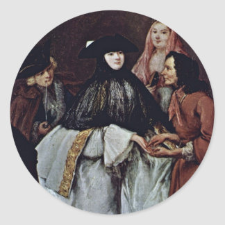 The Fortune Teller Detail By Longhi Pietro Round Stickers