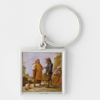 The Fortune Teller Silver-Colored Square Keychain