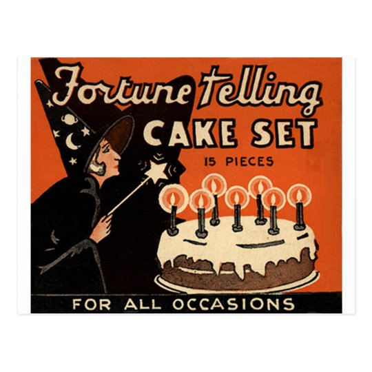 The Fortune Telling Cake Postcard