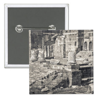 The Forum of Augustus is one of the Imperial 2 2 Inch Square Button
