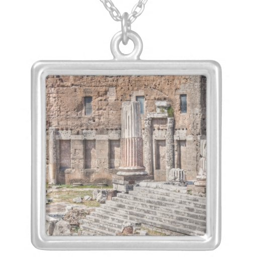 The Forum of Augustus is one of the Imperial 4 Square Pendant Necklace