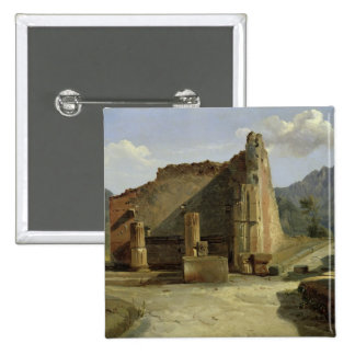 The Forum of Pompeii 2 Inch Square Button