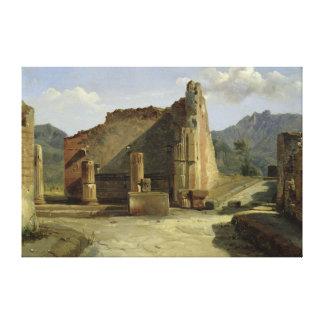 The Forum of Pompeii Canvas Print