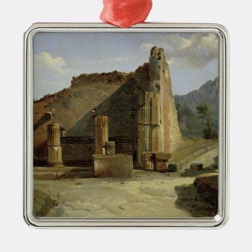 The Forum of Pompeii Christmas Tree Ornament